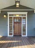 Colpo esteriore di Front Door di legno Fotografia Stock