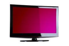 Colpo fronte del plasma/affissione a cristalli liquidi TV Fotografia Stock
