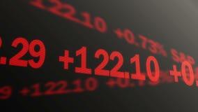 Colpo generato da computer di funzionamento di dati del mercato azionario sul cuore, azienda di commercio illustrazione di stock