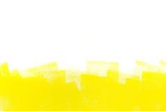 Colpo giallo del rullo di pittura fotografia stock libera da diritti
