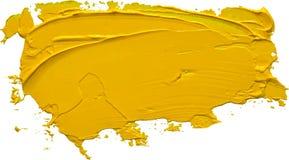 Colpo giallo strutturato della spazzola della pittura ad olio royalty illustrazione gratis