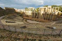 Colpo grandangolare di Roman Theatre Immagine Stock Libera da Diritti