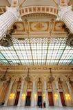 Colpo interno con il palazzo del Parlamento Immagini Stock