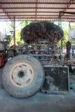 Colpo interno di grande garage di servizio del camion Fotografia Stock