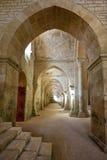 Colpo interno nell'abbazia di Fontenay Fotografie Stock