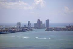 Colpo lontano Miami Beach dell'antenna Fotografia Stock Libera da Diritti