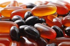 Colpo a macroistruzione dei prodotti farmaceutici Fotografia Stock