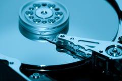 Colpo a macroistruzione del disco rigido. Fotografia Stock
