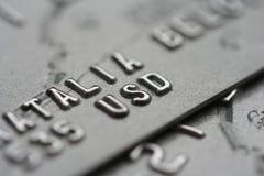 Colpo a macroistruzione delle carte di credito Fotografia Stock