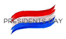 Colpo nazionale della pittura di colore per presidenti americani Day royalty illustrazione gratis