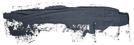 Colpo nero strutturato lungo della spazzola della pittura ad olio, isolato royalty illustrazione gratis