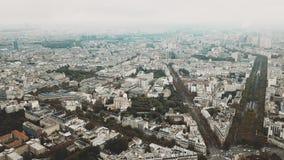 Colpo panoramico aereo di elevata altitudine di paesaggio urbano di Parigi come visto da area di Montparnasse, Francia Fotografia Stock Libera da Diritti