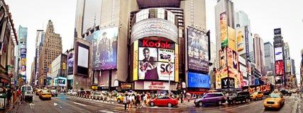 Colpo panoramico del Times Square Immagine Stock Libera da Diritti