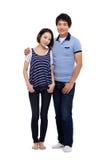 Colpo pieno delle giovani coppie asiatiche Fotografia Stock Libera da Diritti