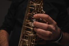 colpo potato del jazzista fotografia stock libera da diritti