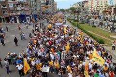 Colpo pubblico turco degli operai Fotografia Stock Libera da Diritti