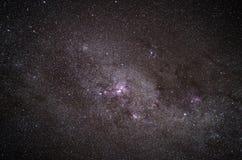 Colpo reale di una galassia nel cielo notturno fotografia stock