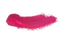 Colpo rosa del rossetto di colore su Libro Bianco Fotografie Stock