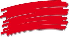 Colpo rosso con una spazzola no. 5 Fotografie Stock