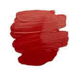 Colpo rosso della spazzola fotografie stock libere da diritti