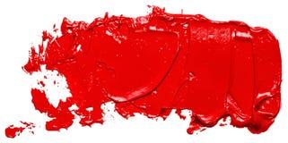 Colpo rosso strutturato della spazzola della pittura ad olio, isolato illustrazione vettoriale