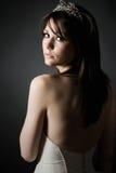 Colpo scuro di una sposa adolescente Stunning immagini stock libere da diritti