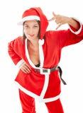 Colpo secco del Babbo Natale e sexy Fotografia Stock