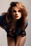 Colpo sexy dello studio della donna Fotografie Stock