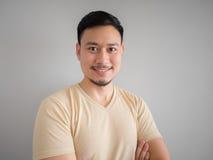 Colpo in testa dell'uomo asiatico felice immagine stock libera da diritti
