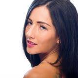 Colpo in testa di giovane, bella femmina caucasica Fotografia Stock Libera da Diritti