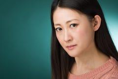Colpo in testa giapponese della donna Immagine Stock Libera da Diritti
