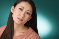 Colpo in testa giapponese della donna Fotografia Stock Libera da Diritti