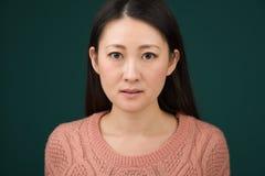 Colpo in testa giapponese della donna Fotografia Stock
