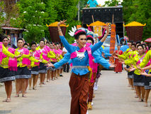 Colpo tradizionale Fai del panino Tradizione e cultura tailandesi Fotografia Stock Libera da Diritti
