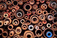 Colpo variopinto delle strutture della ruota del metallo e dell'altro dettaglio del metallo Fotografia Stock Libera da Diritti