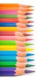 Colpo variopinto di macro del primo piano delle matite Fotografia Stock