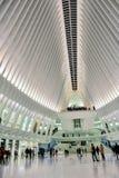 Colpo verticale della stazione della metropolitana di WTC Immagini Stock Libere da Diritti