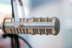 Colpo vicino dell'audio microfono, vista orizzontale Fotografia Stock Libera da Diritti