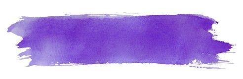 Colpo viola del pennello Fotografie Stock Libere da Diritti