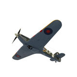 Colporteur Hurricane Aircraft d'isolement sur l'illustration 3D blanche Photo libre de droits