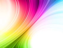 Colrful Abstract background. Abstract background of dynamic rainbow color lines Royalty Free Stock Image