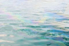 Colrful oil slick on the water Royalty Free Stock Images