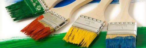 colrful paintbrushes Royaltyfri Foto