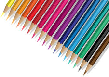 Colrful pencils background. Colrful pencils and shadows on the white background Royalty Free Stock Images