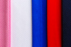 Colrful polyester fabric texture Royalty Free Stock Images