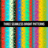 Colroful seamless patterns Stock Image