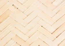 Colse upp wood väva textur för bambu, thailändsk handwork Arkivbilder
