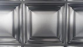 Colse w górę srebnej popielatej sufitu kwadrata płytki zdjęcia royalty free