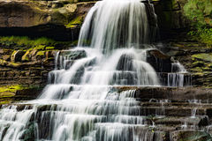 Colseup of Brandywine Waterfall Royalty Free Stock Photography