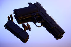 Colt 1911. With magazine and bullets Royalty Free Stock Photo